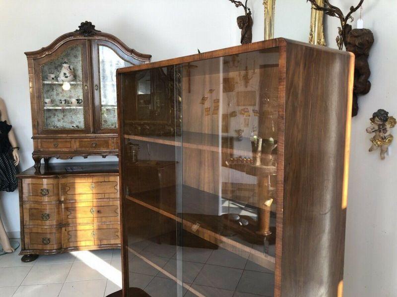 Hübsche Art Deco Vitrine Glasschrank Bücherschrank Z1412 4
