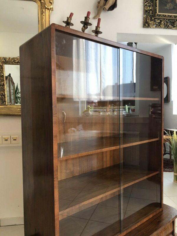 Hübsche Art Deco Vitrine Glasschrank Bücherschrank Z1412 5