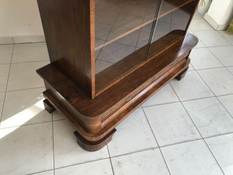 Hübsche Art Deco Vitrine Glasschrank Bücherschrank Z1412 6