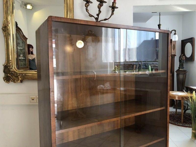 Hübsche Art Deco Vitrine Glasschrank Bücherschrank Z1412 7