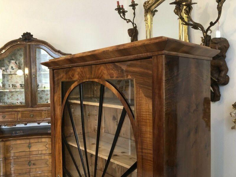 Restaurierte Biedermeier Vitrine Bücherschrank Glasschrank Z1434 2