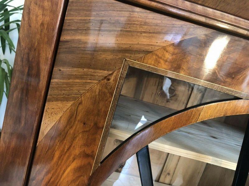 Restaurierte Biedermeier Vitrine Bücherschrank Glasschrank Z1434 7