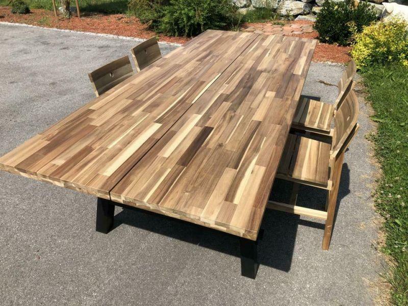 Uriger Designertisch Esstisch, Landhaustisch Industrie Loft Tisch X1716