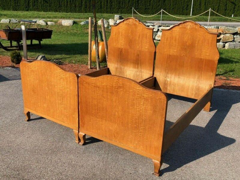 Original Art Deco Doppelbett Einzelbett floral geziert X2360 2