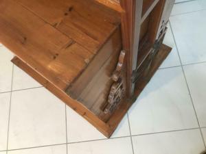 Alte Truhe Kiste Tisch asiatisch Brauttruhe W1541