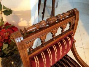 1 Stück Armlehnstuhl Gründerzeit Stuhl Sessel für Schminktisch - W1289