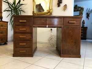 Sekretär Art Deco Schreibtisch Büroschreibtisch Freisteher Z1082