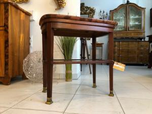 Jugendstil Tisch Beistelltisch Tischerl braun Granitplatte X2570