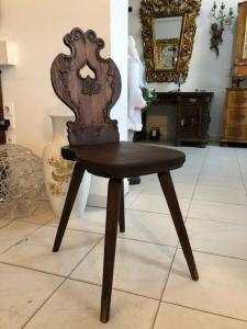 Alter Bauernsessel Sessel Stuhl Herzerlsessel Brettstuhl X2742