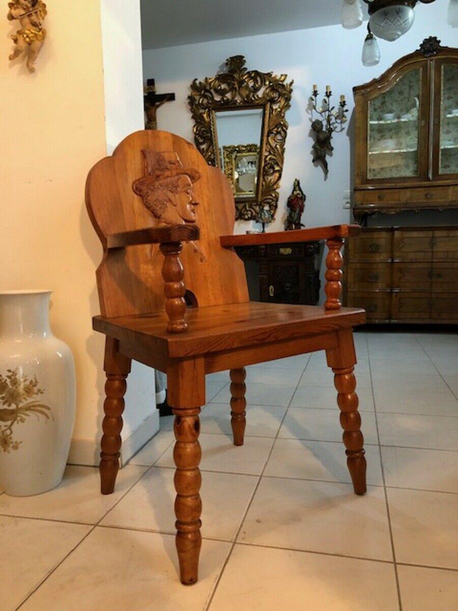 Bauernsessel Sessel Stuhl Armlehnstuhl Zirbenholz X2751