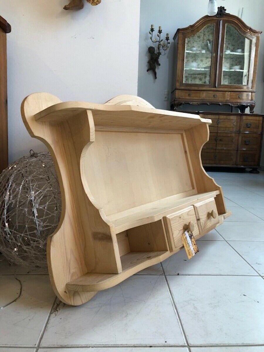 Zierliches Bauernregal Stellage Tellerboard Naturholz X2509