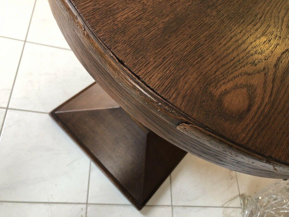 Jugendstil Tisch Beistelltisch Tischerl rund braun X2363 1