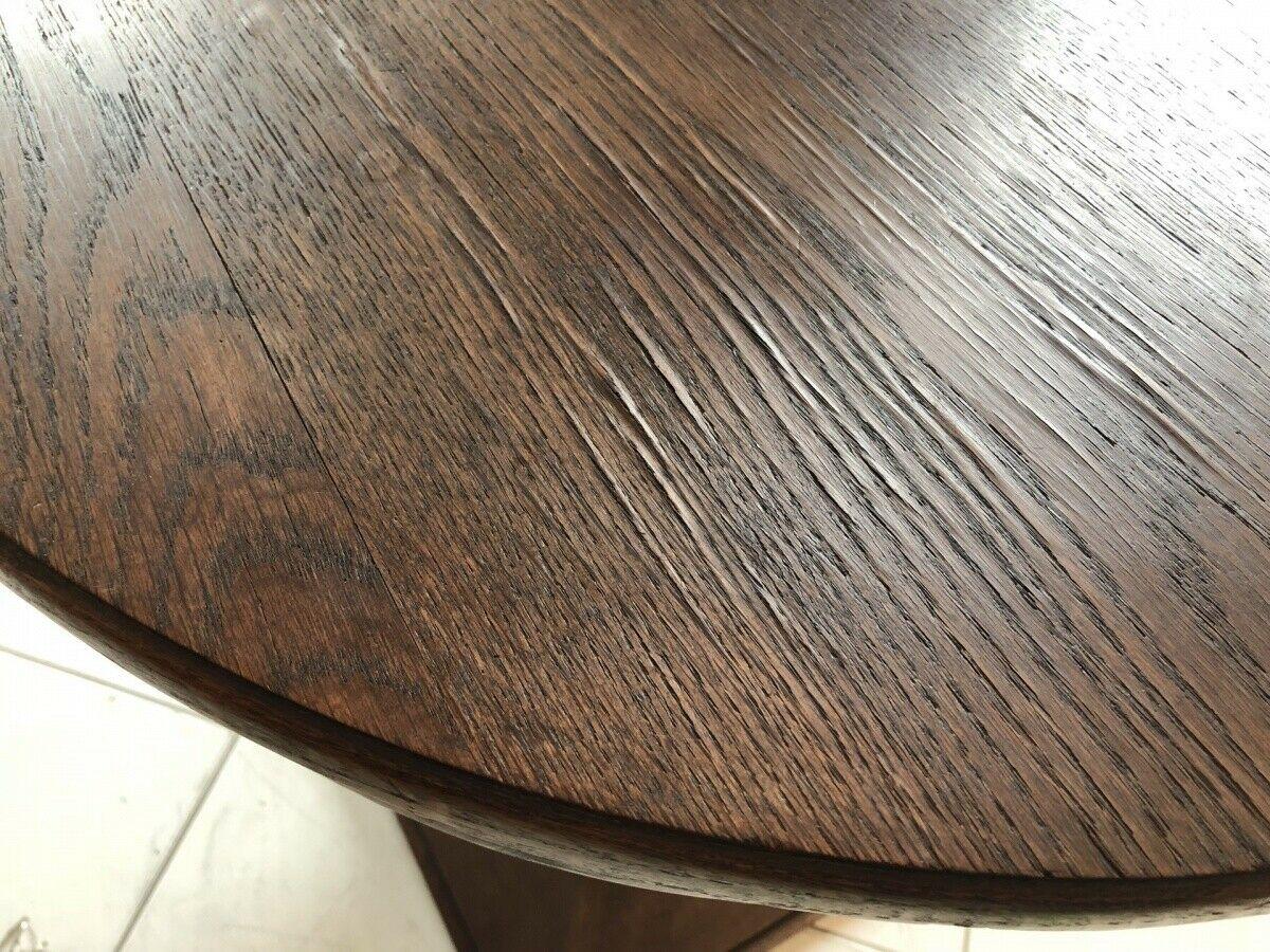 Jugendstil Tisch Beistelltisch Tischerl rund braun X2363 2