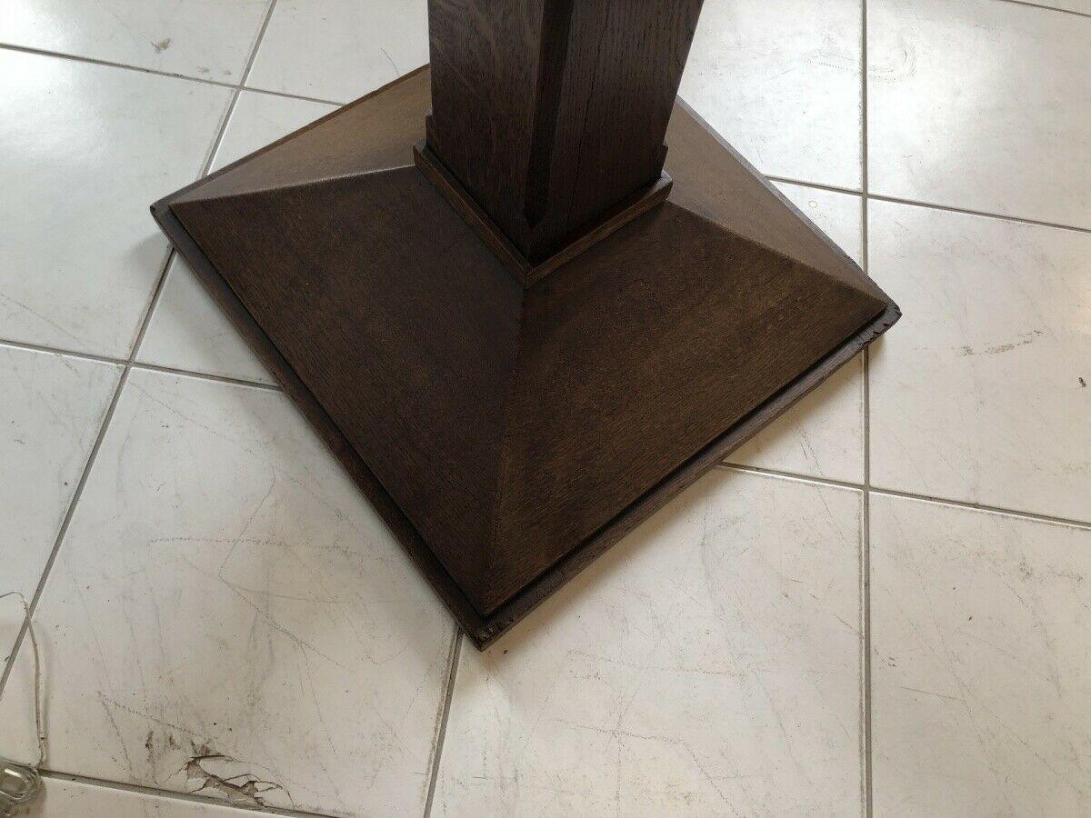 Jugendstil Tisch Beistelltisch Tischerl rund braun X2363 3
