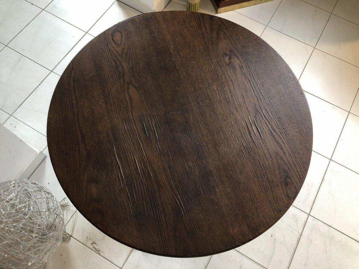 Jugendstil Tisch Beistelltisch Tischerl rund braun X2363 4