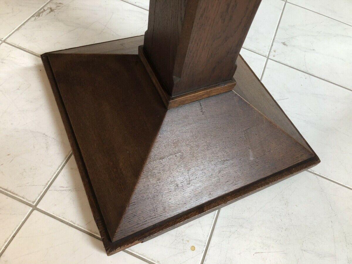 Jugendstil Tisch Beistelltisch Tischerl rund braun X2363 5