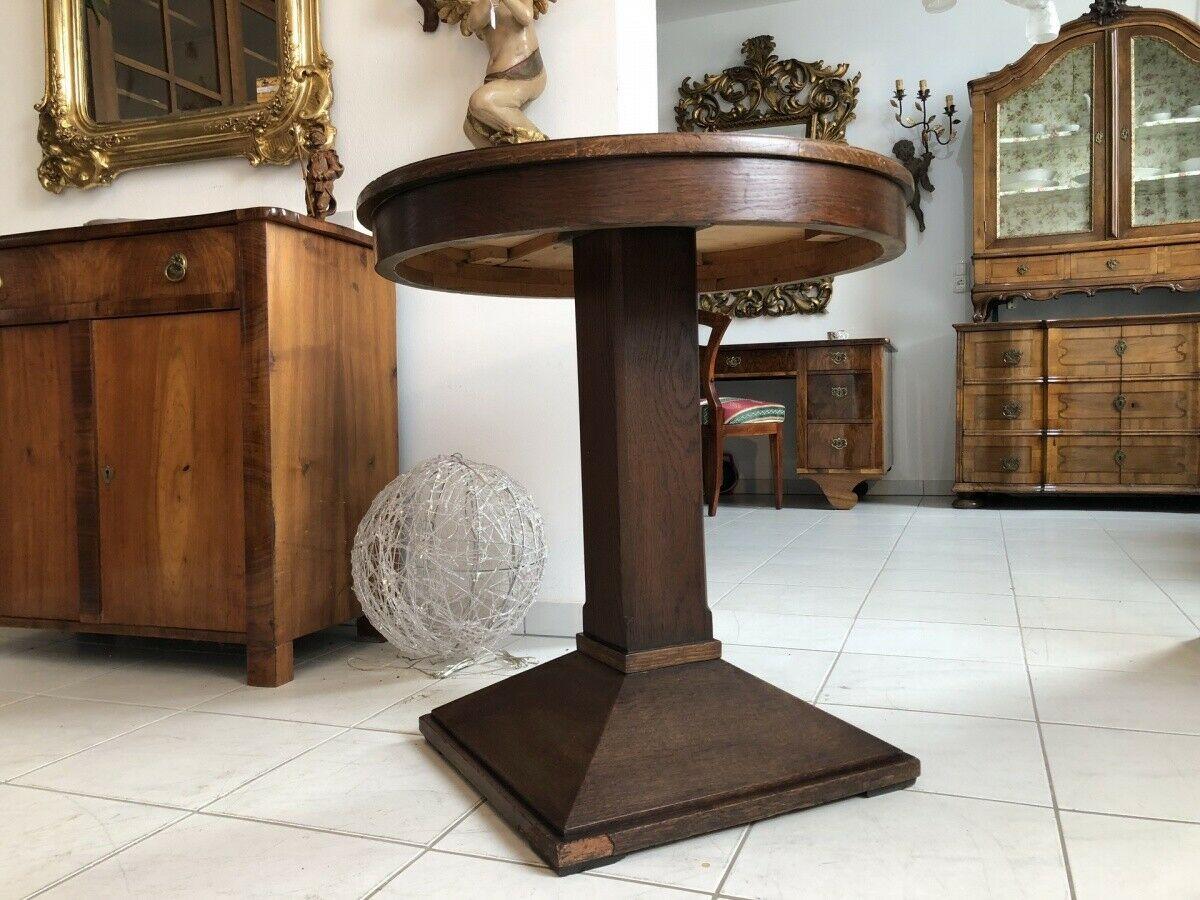 Jugendstil Tisch Beistelltisch Tischerl rund braun X2363 7