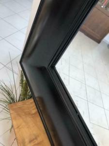 Schwarzer Wandspiegel Spiegel Biedermeier Stil geschliffen X1846
