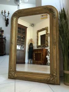 Biedermeier Spiegel Wandspiegel Original vergoldet - X1838