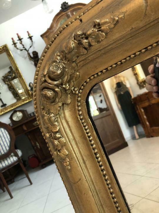 Biedermeier Spiegel Wandspiegel Original vergoldet - X1838 5