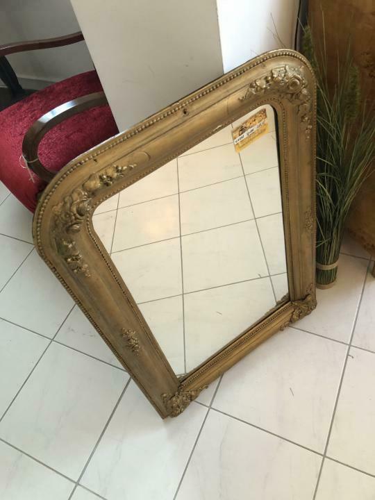 Biedermeier Spiegel Wandspiegel Original vergoldet - X1838 6