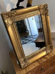Eckiger Wandspiegel Spiegel Barock Stil geschliffen - X1842