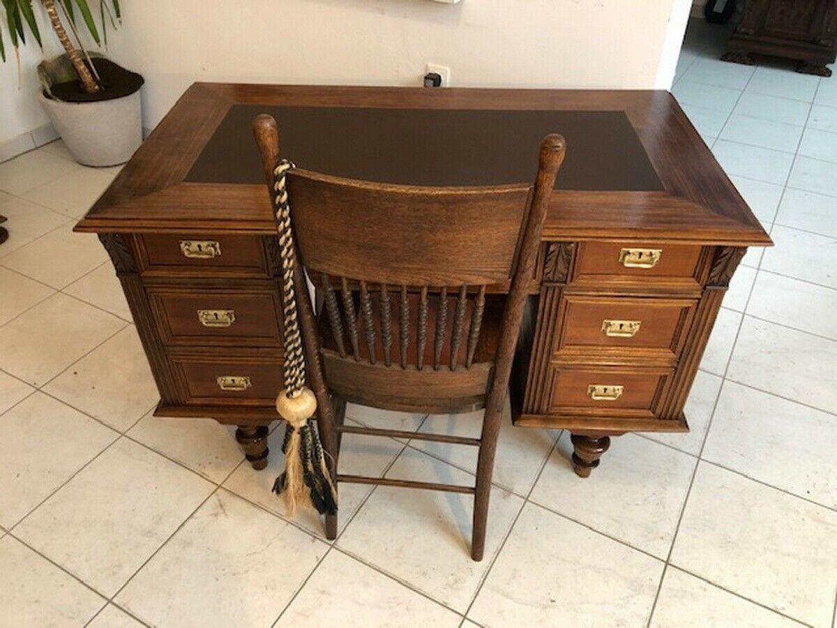 Historismus Schreibtisch Sekretär Restauriertes Schreibmöbel Z1120 7