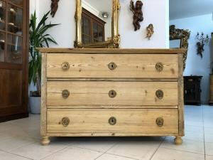 Originale Biedermeier 3 Laden Kommode Fichtenholz X2739