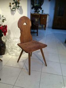 Bauernstuhl Sessel Bauernsessel Stuhl original Naturholz Nr 8812