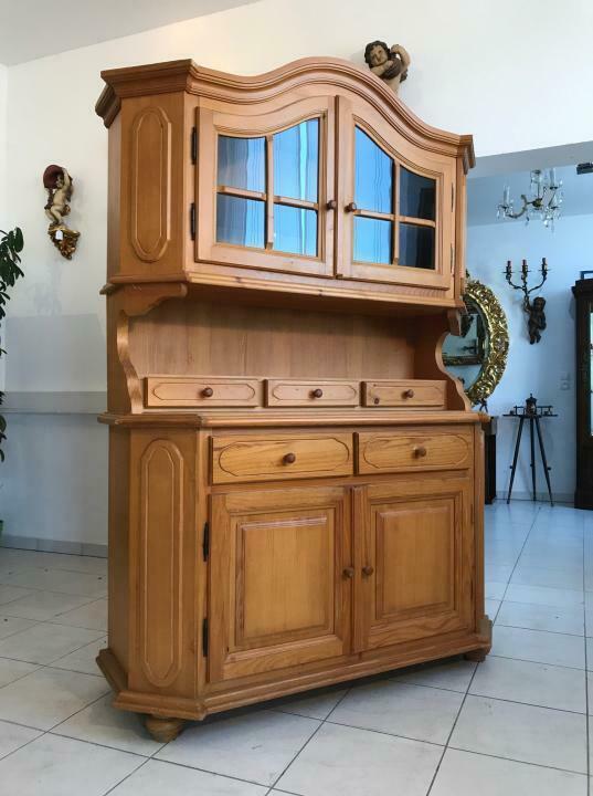 Teilmassives Küchenbuffet Küchenschrank Vitrine Landhausmöbel W1862