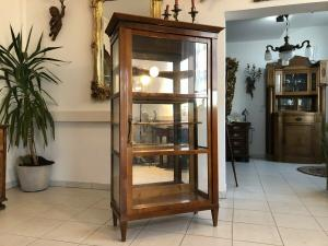 Traumhafte Biedermeier Vitrine Bücherschrank Glasschrank Z1544