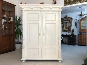 Originaler Gründerzeit Garderobenschrank Säulenschrank Z1006