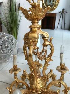 Hängeleuchte Leuchter Prunkt Messingluster Salonluster 175cm W1854