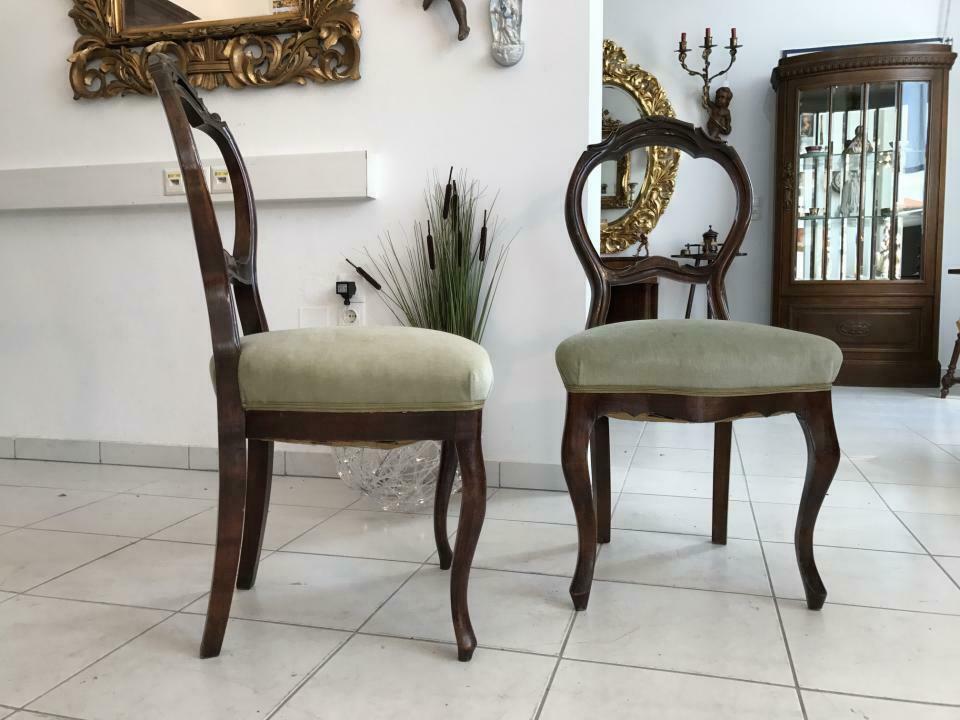 Hübscher Biedermeier Sessel Nussholz Stühle W1865 0