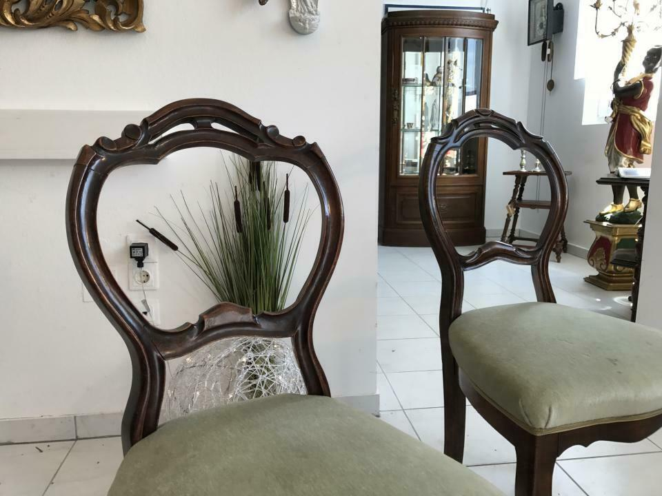Hübscher Biedermeier Sessel Nussholz Stühle W1865 5