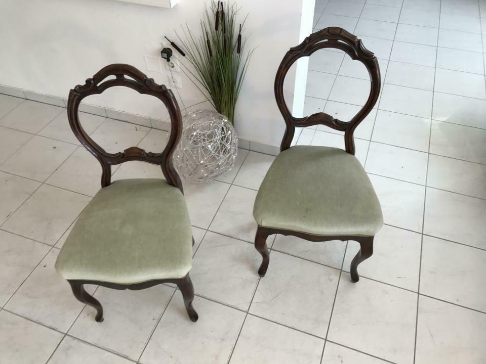 Hübscher Biedermeier Sessel Nussholz Stühle W1865 6