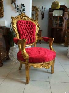 Goldener Fauteuil Stuhl Königssessel Prunksessel Barock A1132