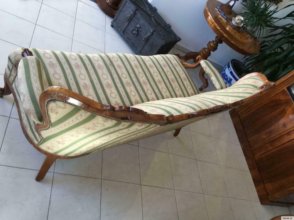 Gründerzeit Sofa Diwan Couch Liege Fledermaussofa A1381 1