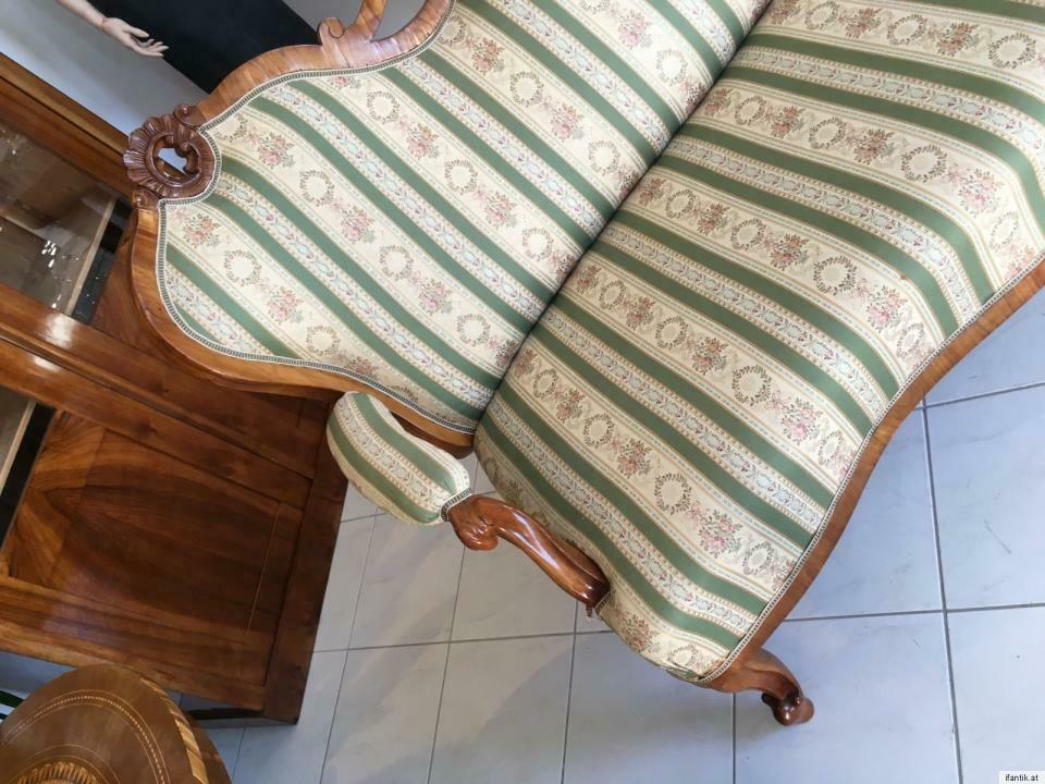 Gründerzeit Sofa Diwan Couch Liege Fledermaussofa A1381 4