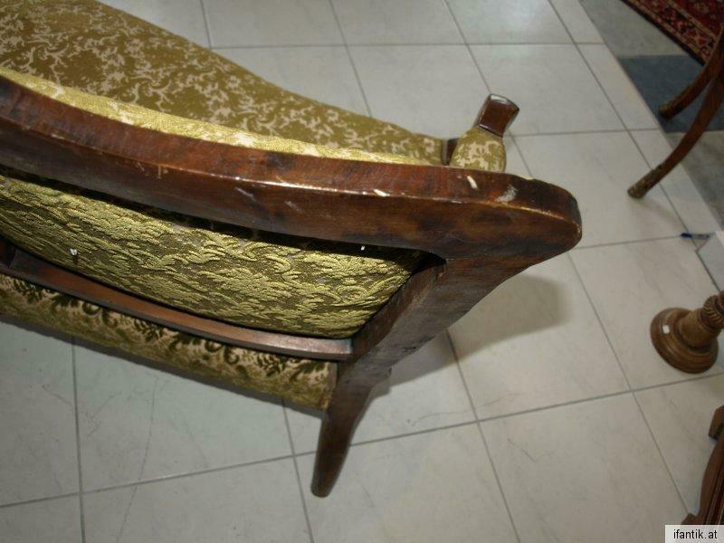 Zierliches 2er Sofa Liege Wiener Barock Couch Diwan  6280 0