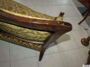 Zierliches 2er Sofa Liege Wiener Barock Couch Diwan  6280