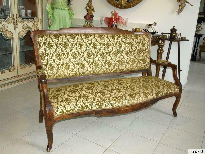 Zierliches 2er Sofa Liege Wiener Barock Couch Diwan  6280 1