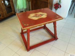 Hübscher hand bemalter Bauerntisch Tisch Beistelltisch 7387