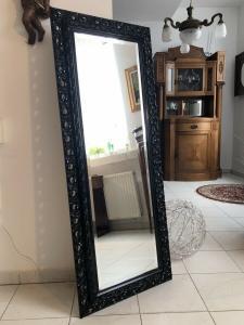 Wandspiegel Spiegel Barock Stil geschliffen schwarz Z1555
