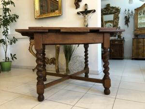 Barock Gründerzeit Tisch Esstisch Auszugtisch X1970