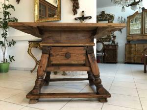 Uriger Jogltisch Bauerntisch Tafeltisch Tisch Bauerntisch 104 x 107 X1946