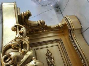 Vergoldete Konsole Podest Barockonsule W1513