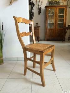 Biedermeier Sessel Eschenholz Antiquität - 8175