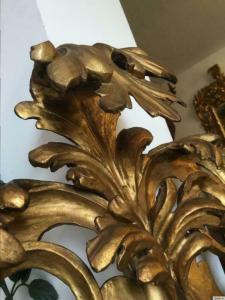 Originaler barocker Florentiner Spiegel Akanthusblattschnitzkunst Traum - A1223