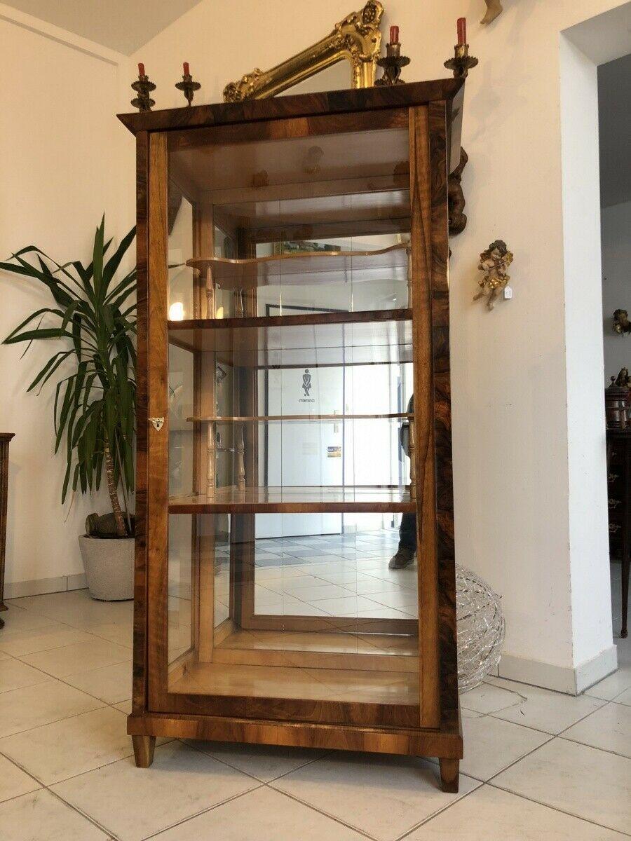 Restaurierte Biedermeier Vitrine Bücherschrank Glasschrank Z1265 0